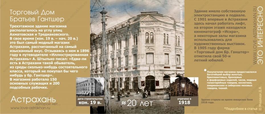 Астрахань которой нет - утраченные памятники архитектуры. Торговый Дом Братьев Гантшер