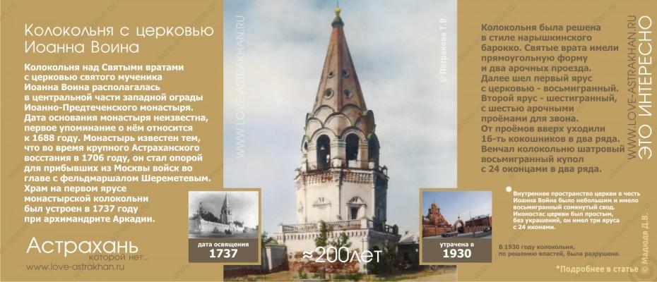 Астрахань которой нет - утраченные памятники архитектуры. Колокольня с церковью Иоанна Воина
