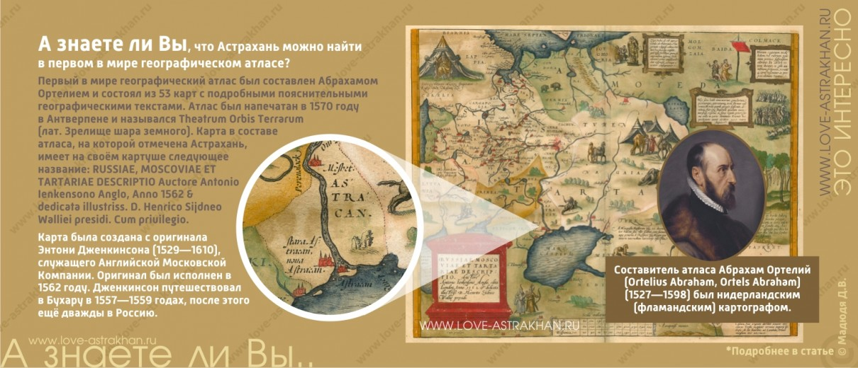 А знаете ли Вы, что Астрахань можно найти в первом в мире географическом атласе?